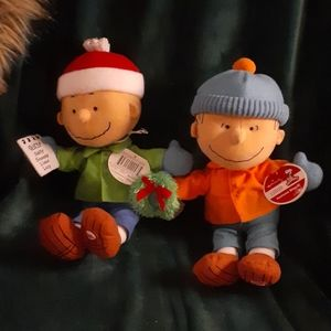 NWT Hallmark Linus &Charlie Brown Stuffies